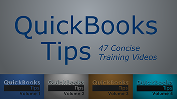 QuickBooks Tips Volume 1, 2, 3, & 4