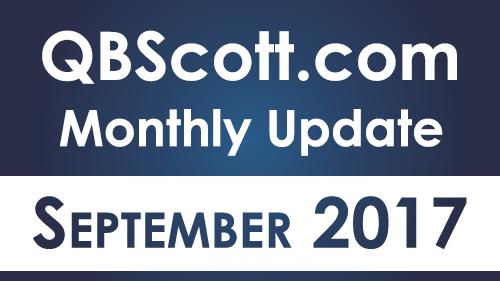 QBScott.com Monthly Update Septemeber 2017