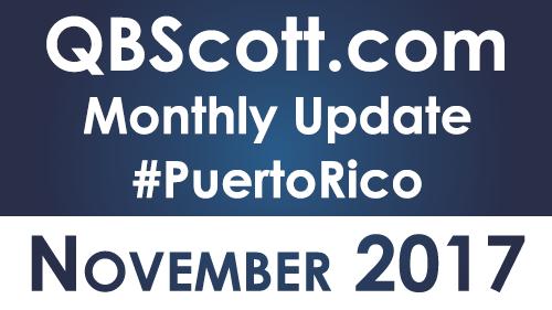 QBScott.com Monthly Update November 2017