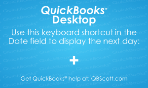 QuickBooks Keyboard Shortcuts + plus key