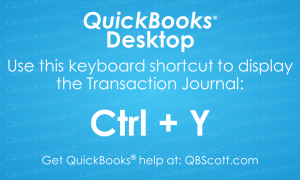 QuickBooks-Keyboard-Shortcuts Transaction Journal