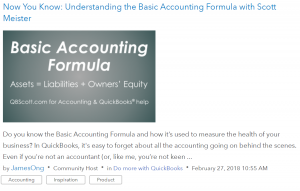 QBCommunity Basic Accounting Formula
