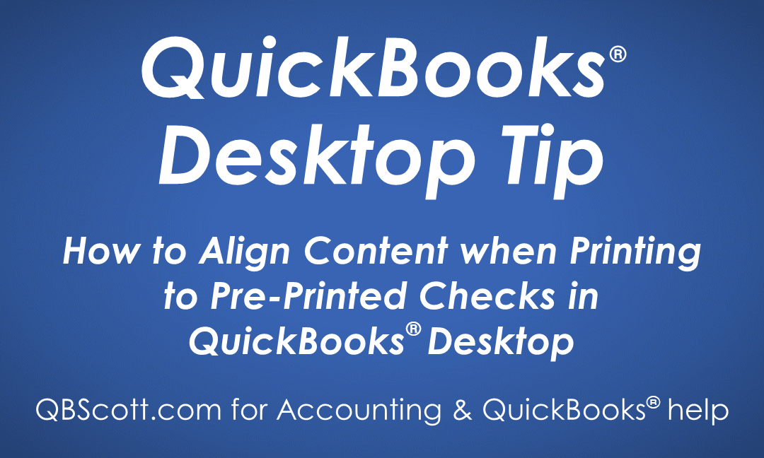 picture about Printable Checks for Quickbooks known as How in direction of Align Materials While Printing toward Pre-Revealed Assessments in just