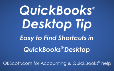 Easy to Find Shortcuts in QuickBooks Desktop